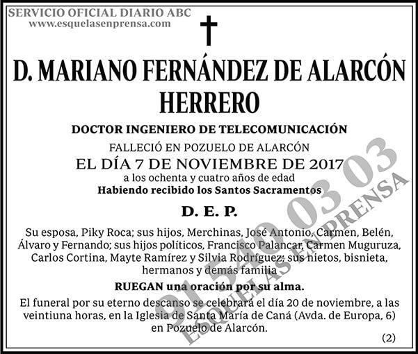 Mariano Fernández de Alarcón Herrero